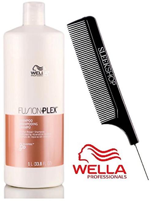Wella FUSION PLEX Intense Repair Shampoo (with Sleek Steel Pin Tail Comb)