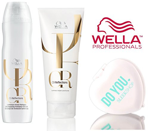 Wella OIL REFLECTIONS Luminous Reveal SHAMPOO & Instant CONDITIONER DUO Set (with Sleek Compact Mirror)