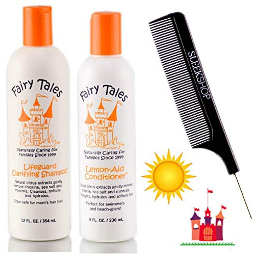 Fairy Tales Sun Shampoo and Conditioner (with Sleek Steel Pin Tail Comb)