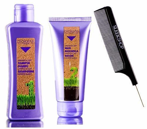 Salerm Cosmetics GRAPEOLOGY SHAMPOO & MASK Duo KIT, Biokera Natura (STYLIST LIST) Grape Oil for Deep-Reaching Hair Nourishment