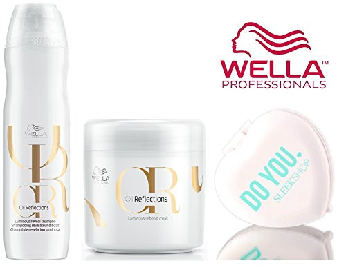 Wella OIL REFLECTIONS Luminous Reveal SHAMPOO & Reboost MASK Duo SET (with Sleek Compact Mirror)