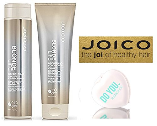 Joico Blonde Life Brightening Shampoo & Conditioner DUO Set (with Sleek Compact Mirror)