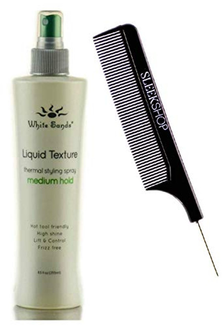 White Sands LIQUID TEXTURE, Med Hold, Extreme Finishing Styling Spray, High Shine, Thermal Protection, Humidity Proof