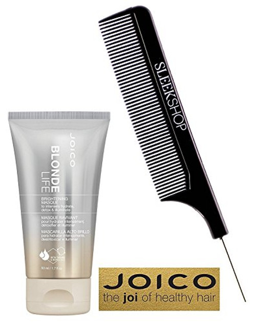 Joico BLONDE LIFE Brightening MASQUE to intensely hydrate, detox & illuminate mask (with Sleek Steel Pin Tail Comb)
