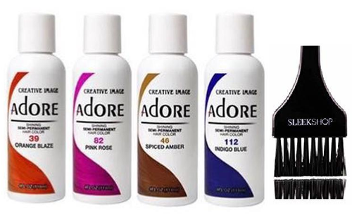 ADORE Creative Image Shining SEMI-PERMANENT Hair Color (w/ brush) No Ammonia