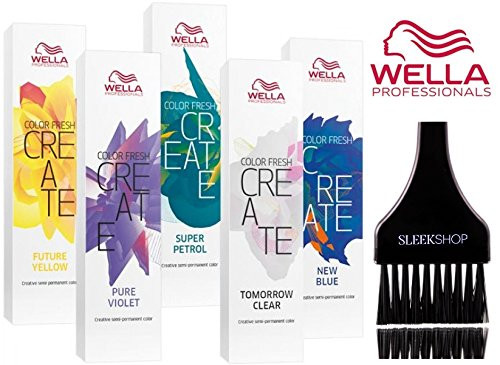 Wella COLOR FRESH CREATE Semi Permanent Shades Hair Color (w/ Sleek Tint Brush)