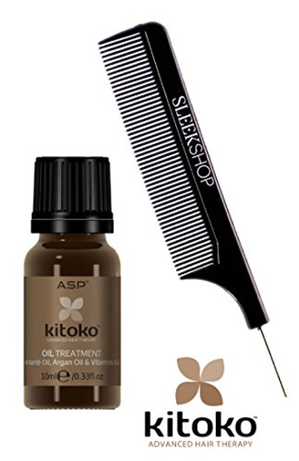 Affinage ASP KITOKO OIL TREATMENT with Karite Oil, Argan Oil UV Filter (w/ Comb)