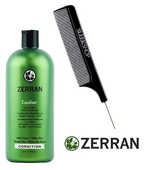 Zerran Equalizer Leave In or Rinse Conditioner & Detangler (w/ Sleek Tail Comb)