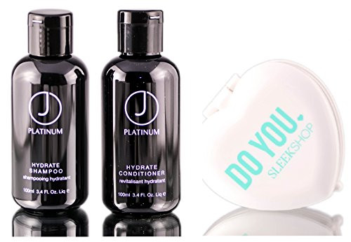 J Beverly Hills Platinum HYDRATE Shampoo & Conditioner DUO Set (w/ Sleek Mirror)