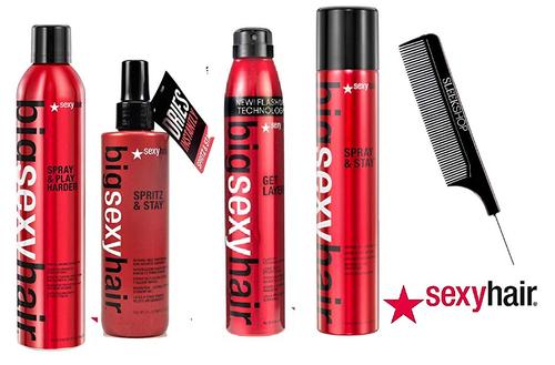 Big SEXY Hair Spray & Play, Get Layered, Spritz Aerosol Hairsprays (w/ comb)