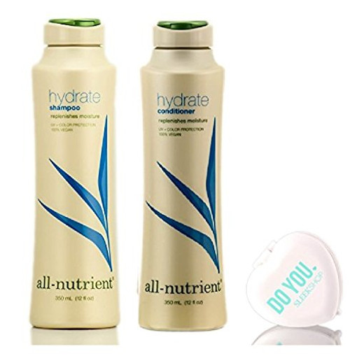 All Nutrient Hydrate Shampoo & Conditioner DUO Set, replenishe moisture w/MIRROR