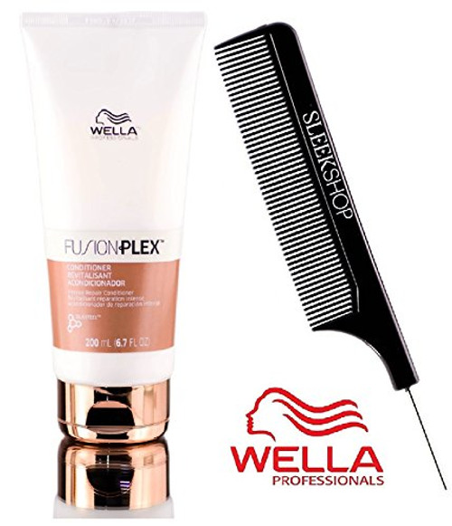 Wella FUSION PLEX Intense Repair Conditioner (with Sleek Steel Pin Tail Comb)