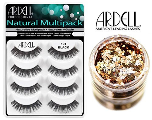 Ardell NATURAL MULTIPACK Lashes (with bonus Skin/Hair GLITTER)