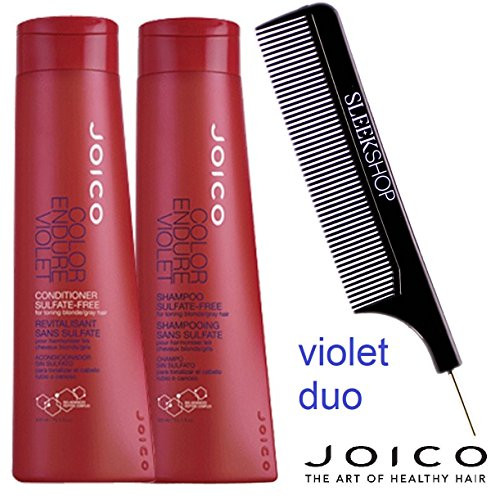 Joico Color Endure VIOLET Shampoo & Conditioner DUO Toning blonde, gray w/ COMB