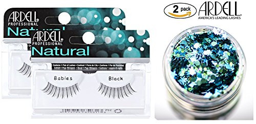 Ardell Professional NATURAL Lashes (2-PACK with bonus Skin/Hair GLITTER)