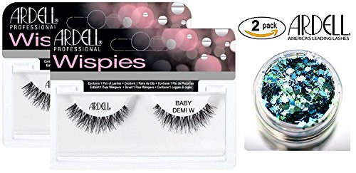 Ardell Professional NATURAL Lashes -2-PACK with bonus Skin/Hair Glitter