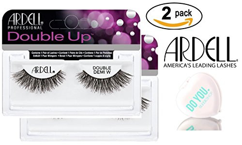Ardell Professional DOUBLE UP Lashes, 2-pack (with Sleek Compact Mirror)