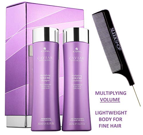 Alterna CAVIAR MULTIPLYING VOLUME Shampoo & Conditioner DUO (w/COMB) FINE HAIR