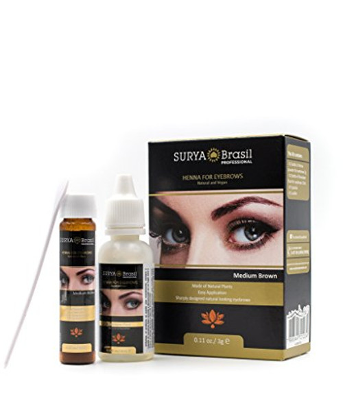 Surya Brasil Henna for EYEBROWS (with Sleek Compact Mirror) BRAZIL