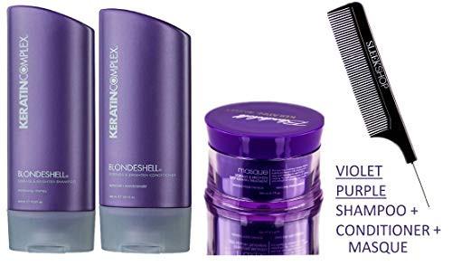 Keratin Complex BLONDESHELL DEBRASS & BRIGHTEN Shampoo & Conditioner DUO & TRIO
