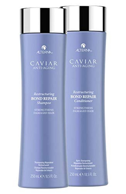 Alterna Caviar RESTRUCTURING BOND REPAIR Shampoo & Conditioner DUO w/ SLEEK COMB