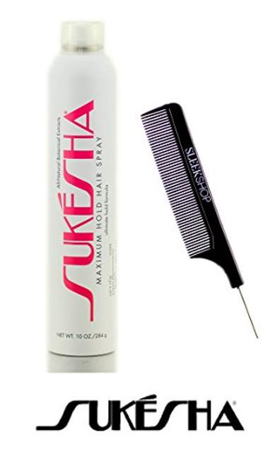 Sukesha Maximum Hold Hair Spray, ultimate hold aerosol formula HAIRSPRAY w/ COMB