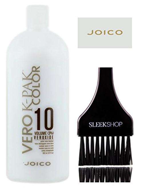 Joico VERO K-Pak Color VEROXIDE Gentle Creme Developer (with Sleek Tint Brush)