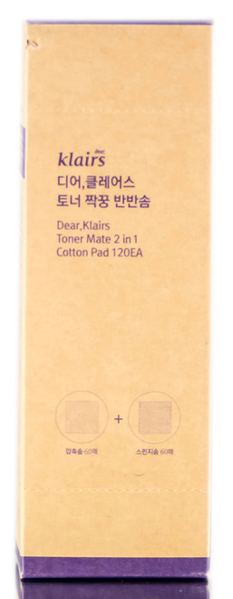 Dear, Klairs Toner Mate 2 in 1 Cotton Pads