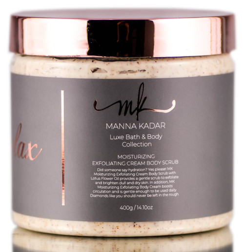 Manna Kadar Relax Luxe Bath & Body Collection Moisturizing Exfoliating Cream Body Scrub