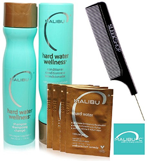 Malibu C HARD WATER WELLNESS Collection Kit (w/ Comb)