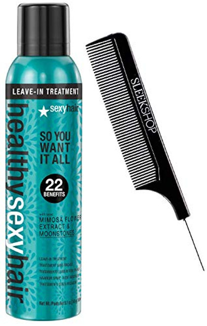 Healthy Sexy Hair SO YOU WANT IT ALL Leave-In Treatment 22 BENEFIT w/ COMB 5.1oz