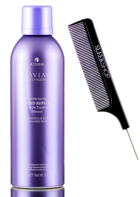 Alterna CAVIAR Anti Aging BOND REPAIR LEAVE-IN TREATMENT MOUSSE w/ SLEEK COMB