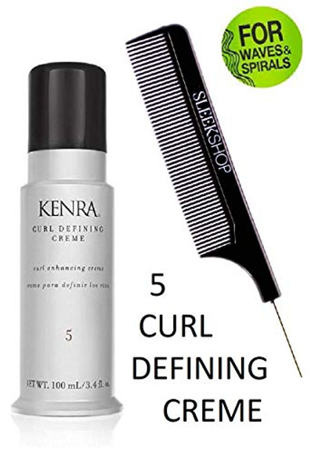 Kenra CURL DEFINING CREME 5, Curl Enhancing Cream for Waves and Spirals w/ COMB