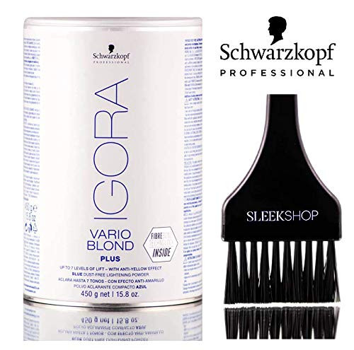 Schwarzkopf Igora VARIO BLOND PLUS, BLUE Dust-Free Lightening Powder, 7 Levels