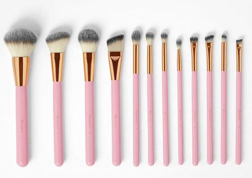 BH Cosmetics Pink Studded Elegance 12 Piece Brush Set