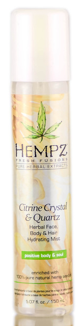 Hempz Citrine Crystal & Quartz Herbal Face, Body, & Hair Hydrating Mist
