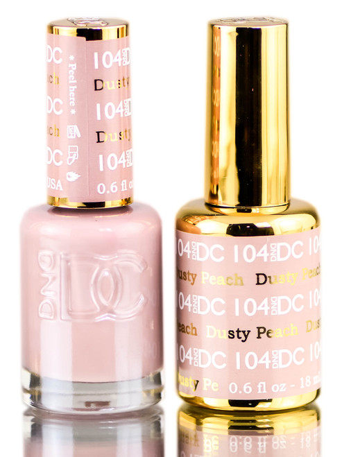 DND DC Neutrals GEL POLISH DUO, Gel Lacquer 0.5 oz + Matching Nail Polish Color 0.5 oz, Daisy Nails