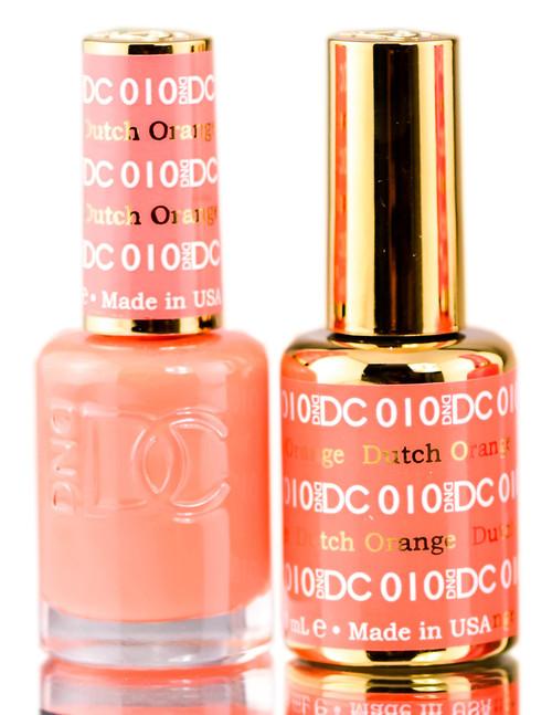 DND DC Oranges GEL POLISH DUO, Gel Lacquer 0.5 oz + Matching Nail Polish Color 0.5 oz, Daisy Nails