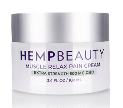 HempBeauty Extra Strength Muscle Relax Pain Cream (500 mg cbd)