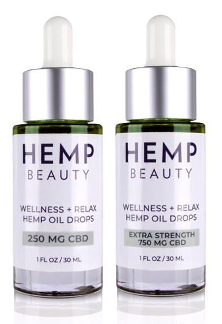 HempBeauty Wellness + Relax Hemp Oil Drops