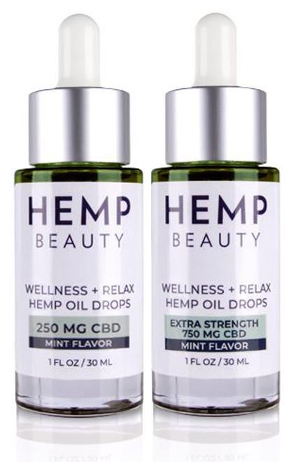 HempBeauty Wellness + Relax Hemp Mint Oil Drops