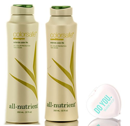 All Nutrient COLOR SAFE Shampoo & Conditioner DUO Set, extends color life (with Sleek Compact Mirror)