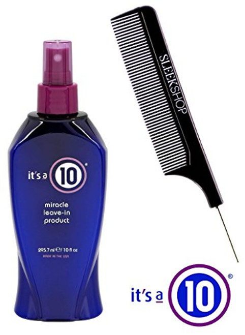 It's a 10 Ten Miracle Leave-In Product Spray Conditioner (with Sleek Steel Pin Tail Comb)