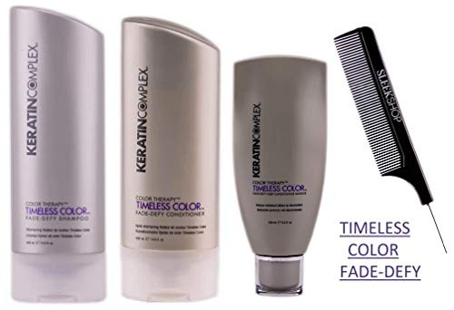 Keratin Complex TIMELESS COLOR FADE-DEFY Shampoo & Conditioner DUO SET (Stylist Kit) Color Therapy Formula to Secure Pigments to Maintain Long-Lasting-Vibrant Color