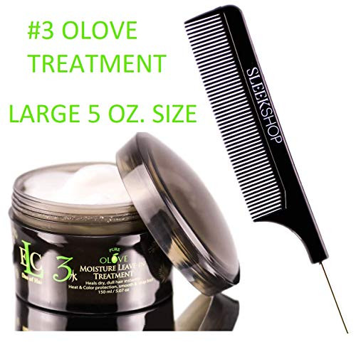 ELC Dao of Hair Pure Olove MOISTURE LEAVE-IN TREATMENT #3 (Stylist Kit) Heals DRY, DULL HAIR Instantly, Heat & Color Protection, Smooth & Stop Frizz