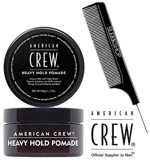 American Crew HEAVY HOLD POMADE, Heavy Hold with High Shine w/ SLEEK PIN COMB