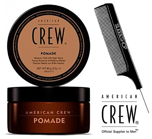 American Crew ORIGINAL POMADE, Medium Hold with High Shine w/ SLEEK STEEL COMB