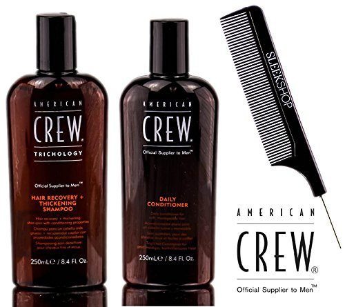 American Crew HAIR RECOVERY + THICKENING Shampoo & Daily Conditioner DUO w/ COMB