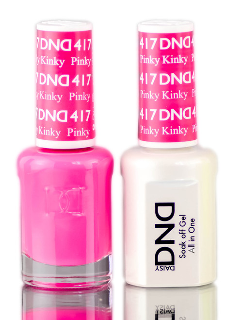 Daisy DND Pinks & Oranges Soak Off GEL POLISH DUO, All In One Gel Lacquer + Matching Nail Polish Color