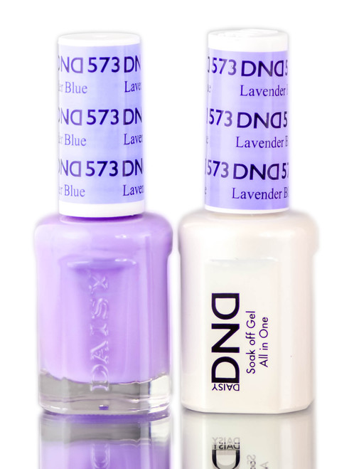 Daisy DND Purples Soak Off GEL POLISH DUO, All In One Gel Lacquer + Matching Nail Polish Color